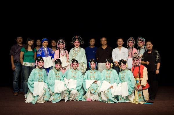 舞台--水磨崑劇團與台北新潮樂急(樂隊老師們)