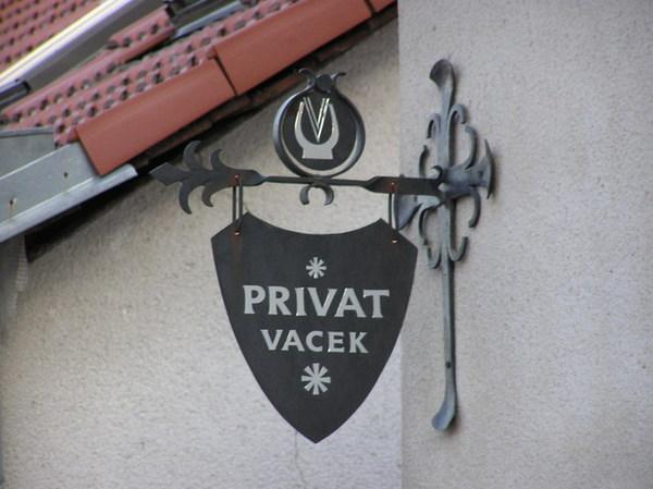 Vacek Penzion的招牌