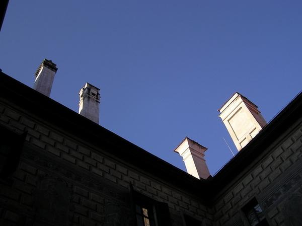 Český Krumlov城堡中庭