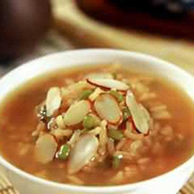 杏仁綠豆粥
