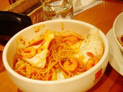 辣味蕃茄蔬菜義大利麵