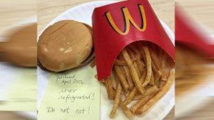 麥當勞放10年不壞? 網友一語解析