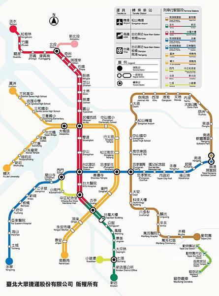 北捷路線圖