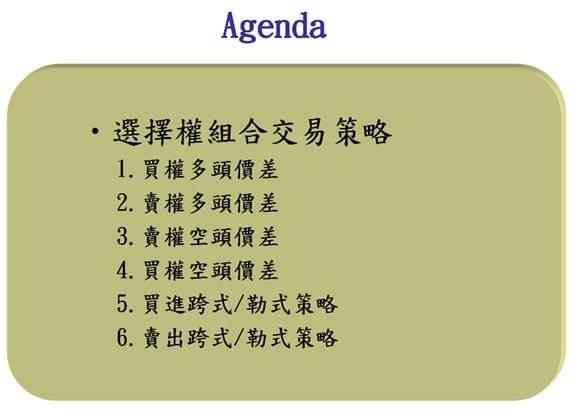 選擇權組合交易策略3