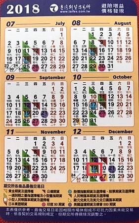 12月期貨結算日
