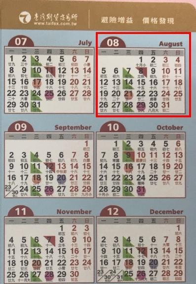 8月期貨結算日