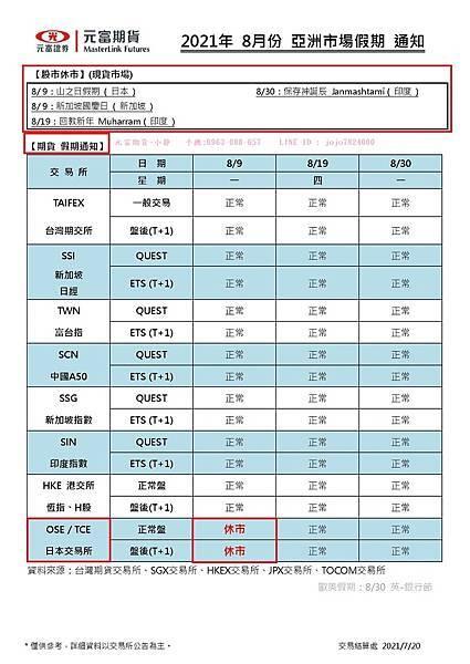 2021年8月份 亞洲市場假期 通知.jpg