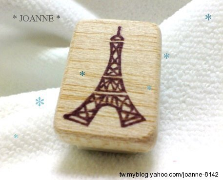 橡皮章J09-巴黎小鐵塔*joanne樂活手作章.jpg