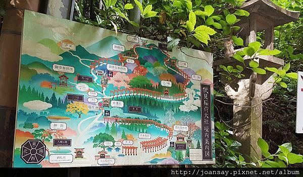 稻荷神社_鳥居步道地圖