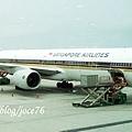 等等要搭這班飛機飛到新加坡