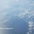 桃園飛新加坡途中的天空