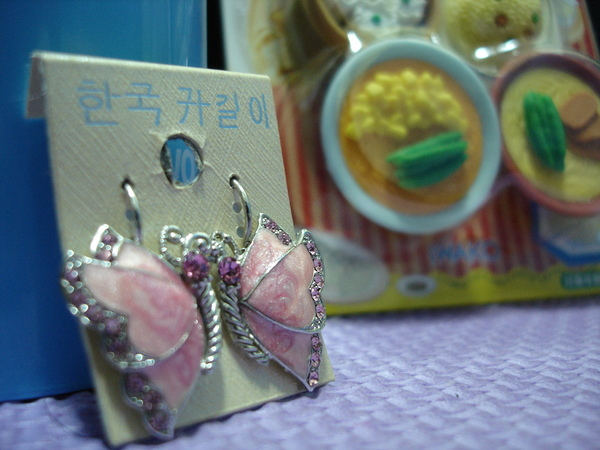 也太華麗的蝴蝶耳環了吧~~~呼~~