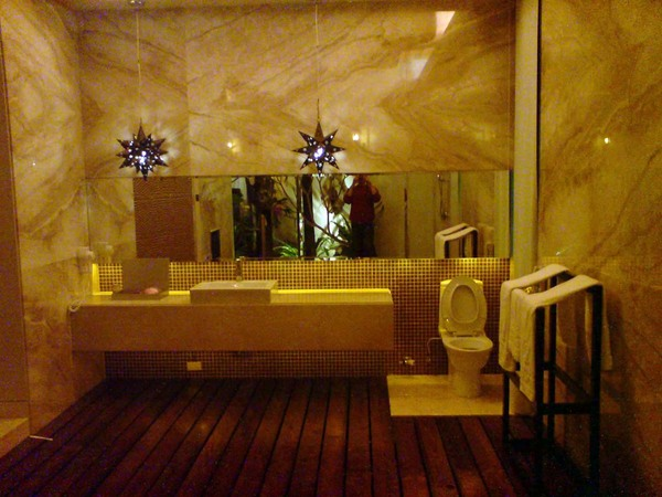 浴室一角。