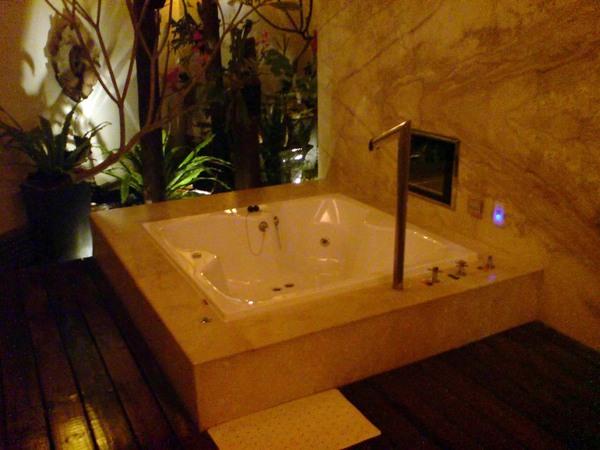 浴室一角.肯定有按摩浴缸跟液晶螢幕。