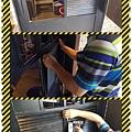 漢誠工程行-餐廳工作室門扇玻璃更改木作百葉通風