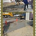 漢誠工程行-三角窗地坪RC島築工程&地坪抿石子&花台墩施作