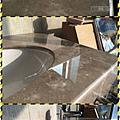 漢誠工程行-大理石洗手檯面與浴缸水漬清除美容