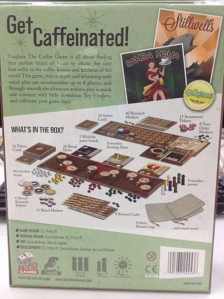 外盒背面,有註明這是可供3~8人同樂的遊戲,還有.....Made in China。