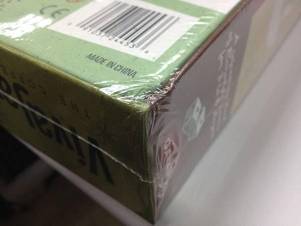 這是收到的第二盒遊戲,由於包裝沒有防撞保護,運氣不佳,撞凹了一個角。