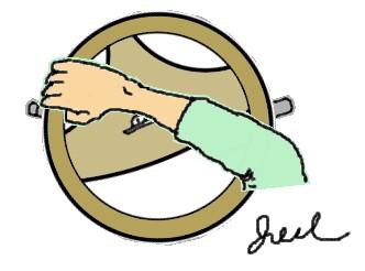 大迴轉時的手握方向盤.jpg