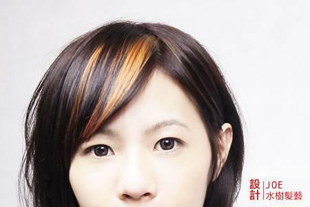 高雄,水樹髮藝,JOE,女生,短髮,髮型,圖片,剪髮,染髮,蠟筆染,挑染,IMG_328333