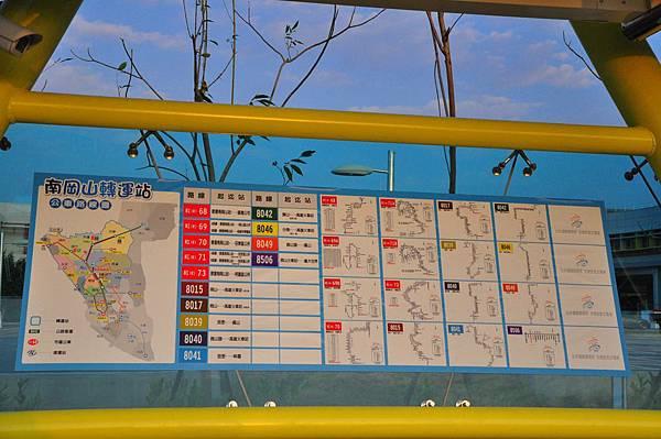 南岡山轉運站路線圖