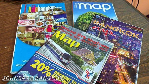 泰國曼谷市地鐵MRT空鐵BTS船運 map