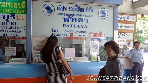 芭達雅玩水篇]曼谷搭巴士到Pattaya@EKKAMAI站-巴士東站2