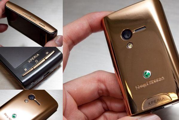 SONY X10 mini 金色限量版 最小的智慧型手機