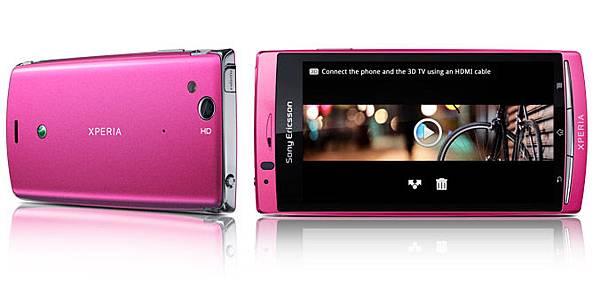 Sony Ericsson XPERIA Arc S LT18i pink粉紅色手機