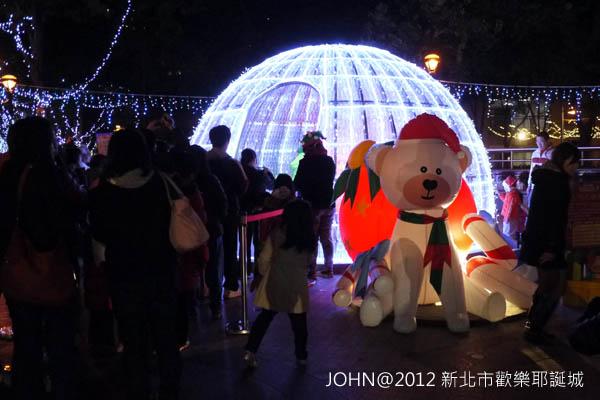 2012新北市歡樂耶誕城~市民廣場與板橋大遠百3
