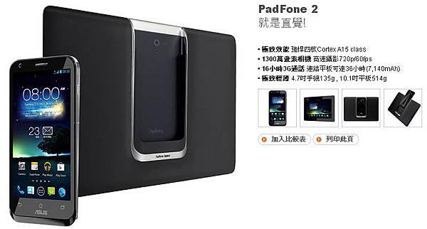 ASUS PADFONE 2 華碩手機變形平板