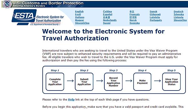[ESTA免美簽] 赴美享免簽證 官方網頁 英文
