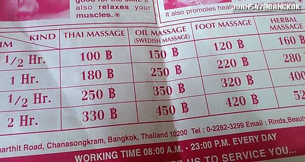 曼谷 考山路 fish spa food massage rinda spa2