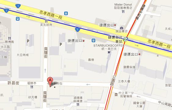 阿泉臭豆腐 大腸麵線 台北火車MAP