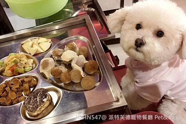 派特芙德寵物餐廳 Pet&food 狗狗套餐上桌