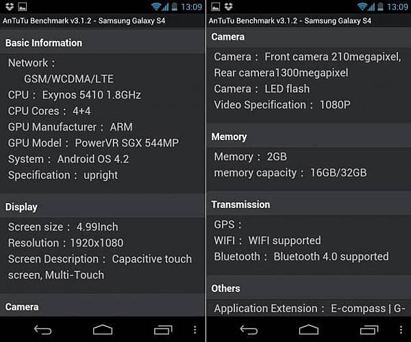三星Galaxy S4規格採用Exynos八核處理器