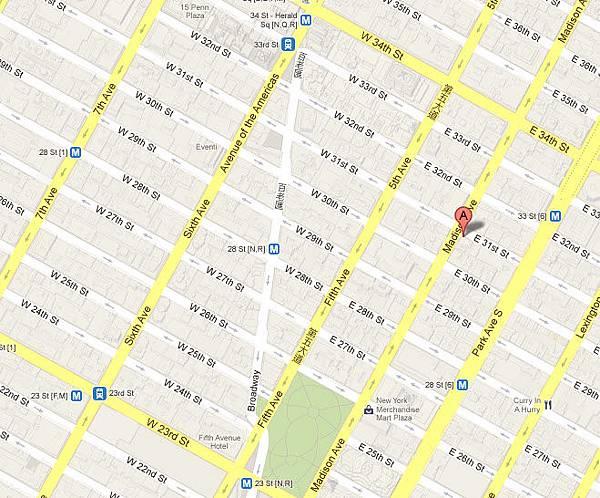 The Roger (羅傑威廉姆斯酒店)  地圖map