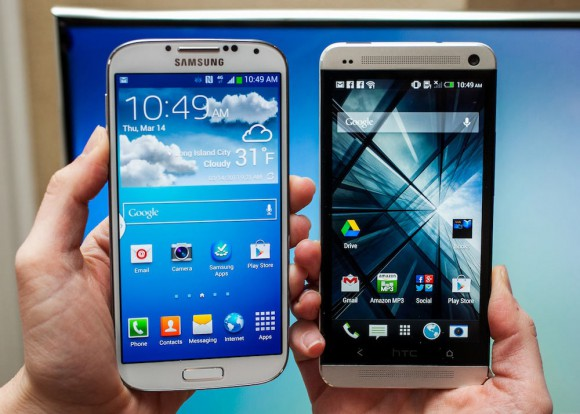 Galaxy-S-IV-VS HTC ONE