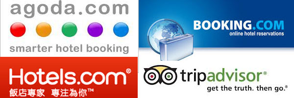 tripadvisor、Booking、Agoda、hotels.com