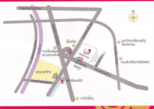 Union Mall 又見五分埔般的購物商場@Phahon Yothin map