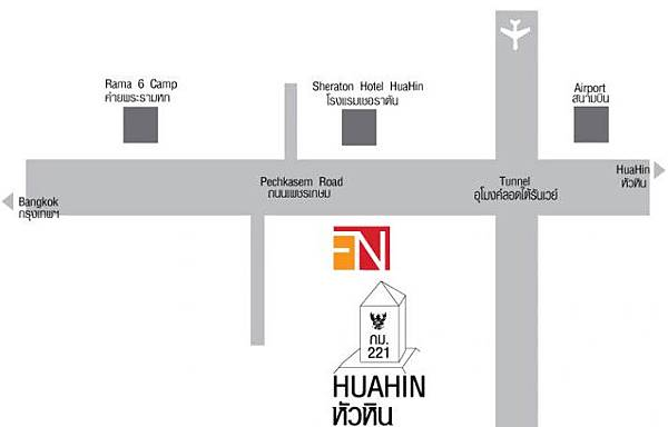 FN Factory Outlet HUAHIN map