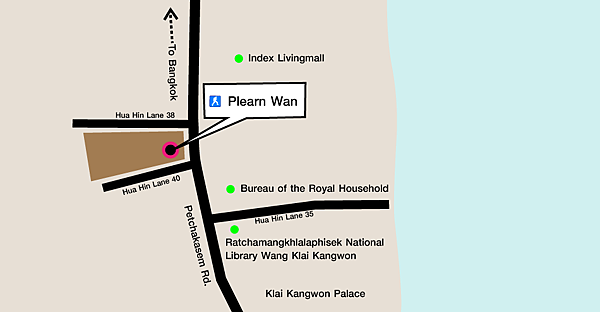 華欣 Plearn Wan懷舊小鎮 MAP2