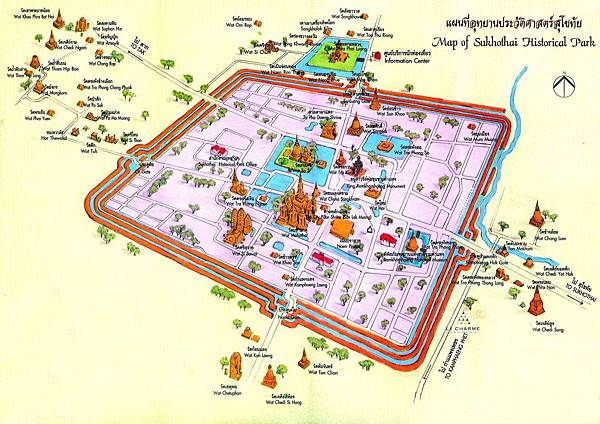 泰國大城 Ayutthaya (阿育塔亞) 世界遺產級的城市博物館 map