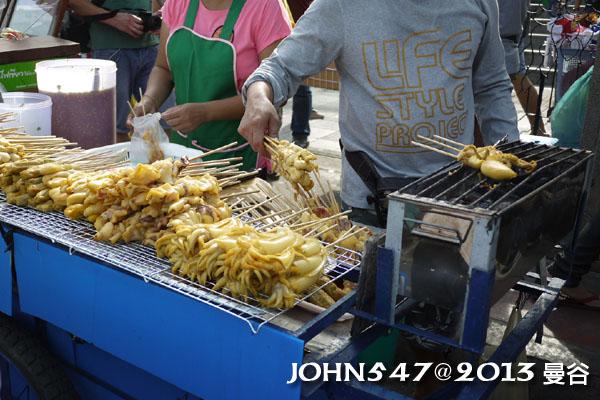 恰圖恰週末市集(札都甲Chatuchak weekend market)烤魷魚