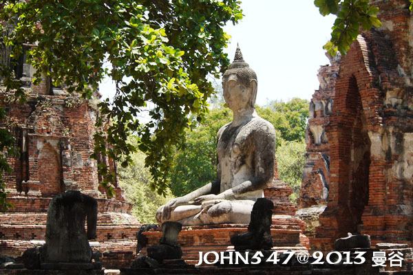 泰國 大城 Ayutthaya 阿育塔亞-14.瑪哈泰寺 Wat Mahathat6