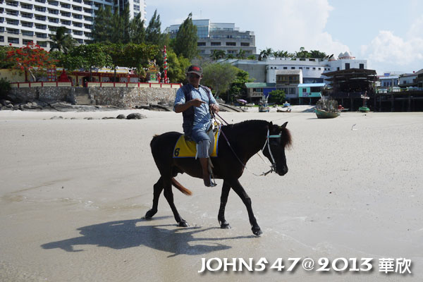 泰國華欣海灘Hua Hin Beach6騎馬