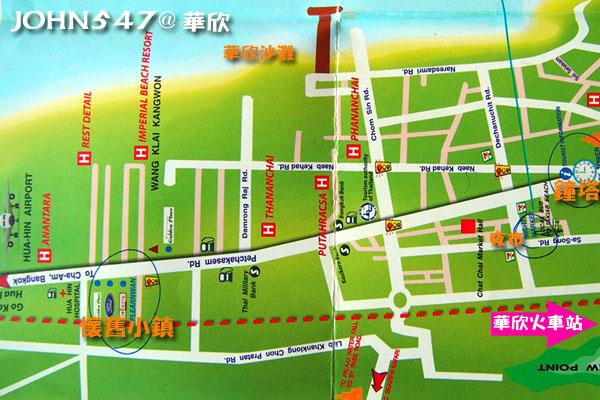 泰國華欣自由行 華欣觀光地圖、Hua Hin MAP3