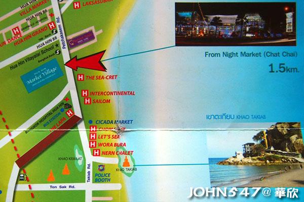 泰國華欣自由行 華欣觀光地圖、Hua Hin MAP6