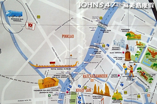 泰國曼谷到蘇美島自由行-曼谷南巴士站地圖map